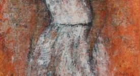 Robe blanche 3. 80 x 60.