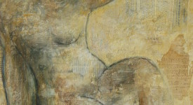 CORPS. Karole AUBOURG. Techniques mixtes sur bois. Dim 92 x 73. (Vendu)