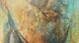 Karole AUBOURG GRAIN de SABLE Techniques mixtes sur bois 73 x6 0