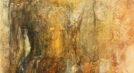 VIVRE. Karole AUBOURG. Techniques mixtes sur bois. Dim 61 x50.