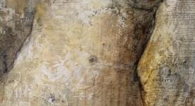 ESPACE du CORPS. Karole AUBOURG. Dim 92 x 73. Techniques mixtes sur bois.