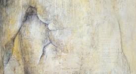 ETRE. Karole AUBOURG. Techniques mixtes sur bois. Dim 92 x 73.