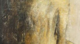HOME. Karole AUBOURG. Techniques mixtes sur bois. Dim 92 x 73.