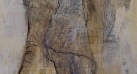 ENSEMBLE.Karole AUBOURG. Techniques mixtes sur bois. Dim 92 x 73.