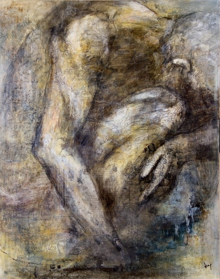 L'HOMME Karole AUBOURG Dim 92 x 73