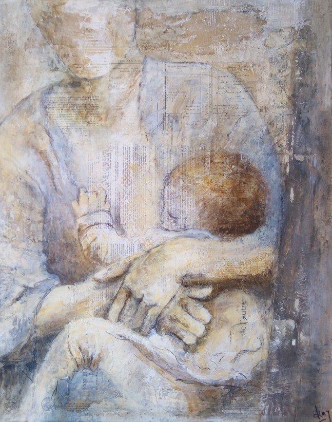 PRESENCE Karole AUBOURG Dim 92 x 73