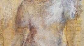 BLUE. Karole AUBOURG. Techniques mixtes sur bois. Dim 61 x 50. - Copie