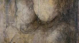 D'EUX. Karole AUBOURG. Techniques mixtes sur bois. Dim 92 x 73.