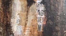 Conversation numero 1 Karole Aubourg Techniques mixtes sur bois Dim 61 x 50 cm