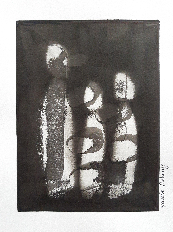 Encre de Chine sur papier Karole Aubourg Dim 21 x 30 cm