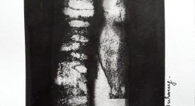 Encre de Chine sur papier Numero 1 Karole Aubourg Dim 21 x 30 cm