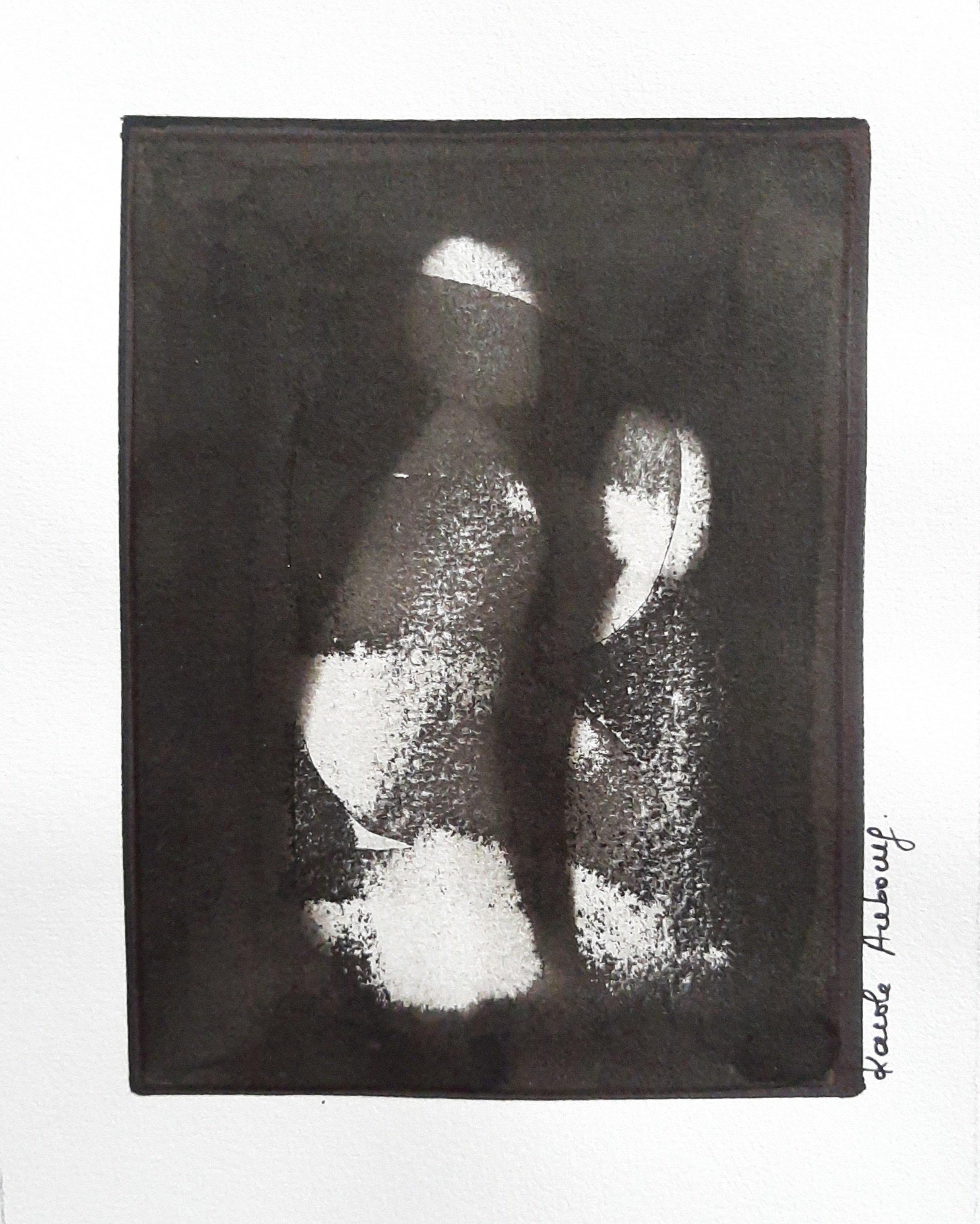 Encre de Chine sur papier Numero 3 Karole Aubourg Dim 30 x 21 cm