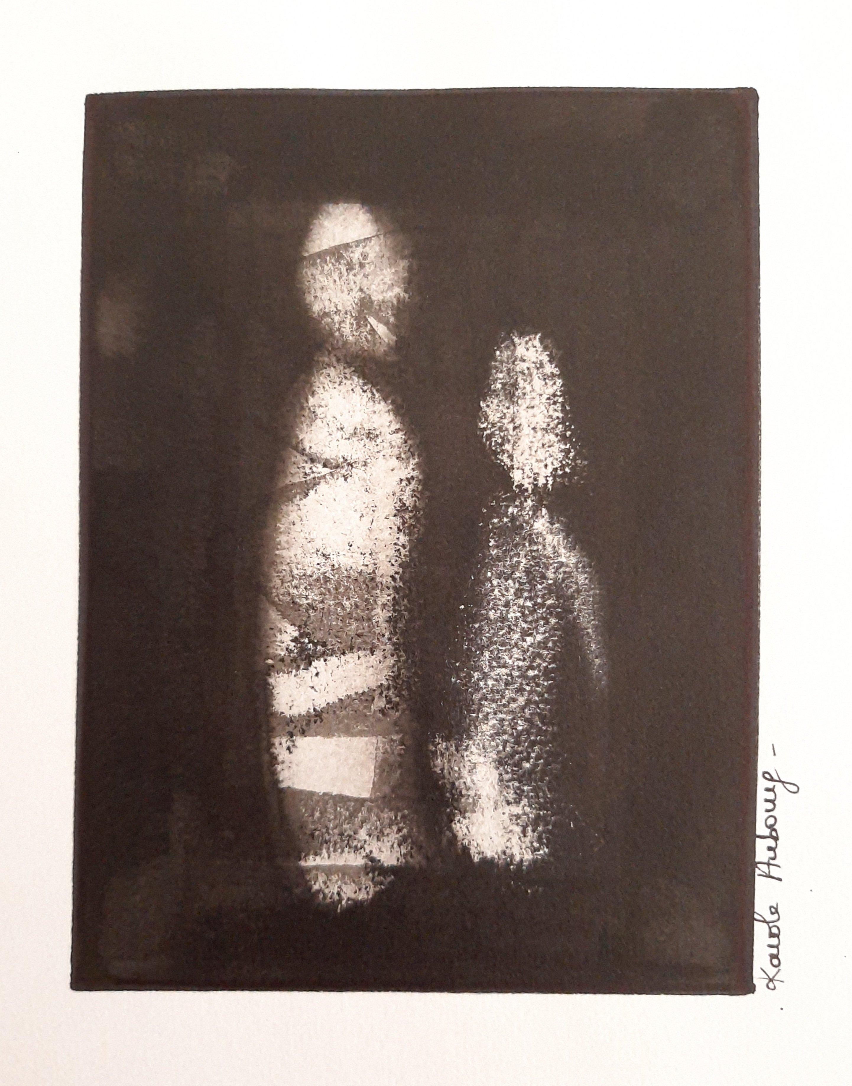 Encre de Chine sur papier Numero 4 Karole Aubourg Dim 30 x 21 cm