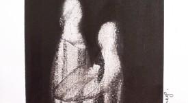 Encre de Chine sur papier numero 12 Karole Aubourg Dim 30 x 21 cm