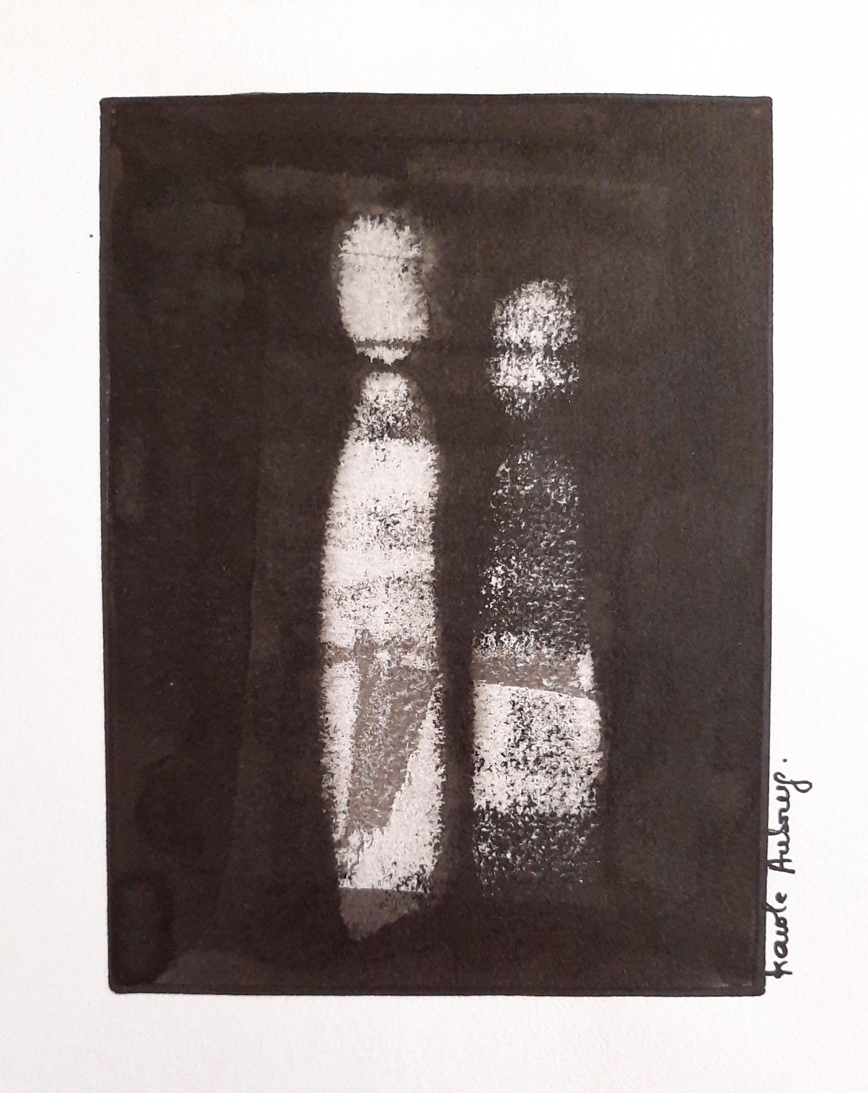 Encre de Chine sur papier numero 15 Karole Aubourg Dim 30 x 21 cm