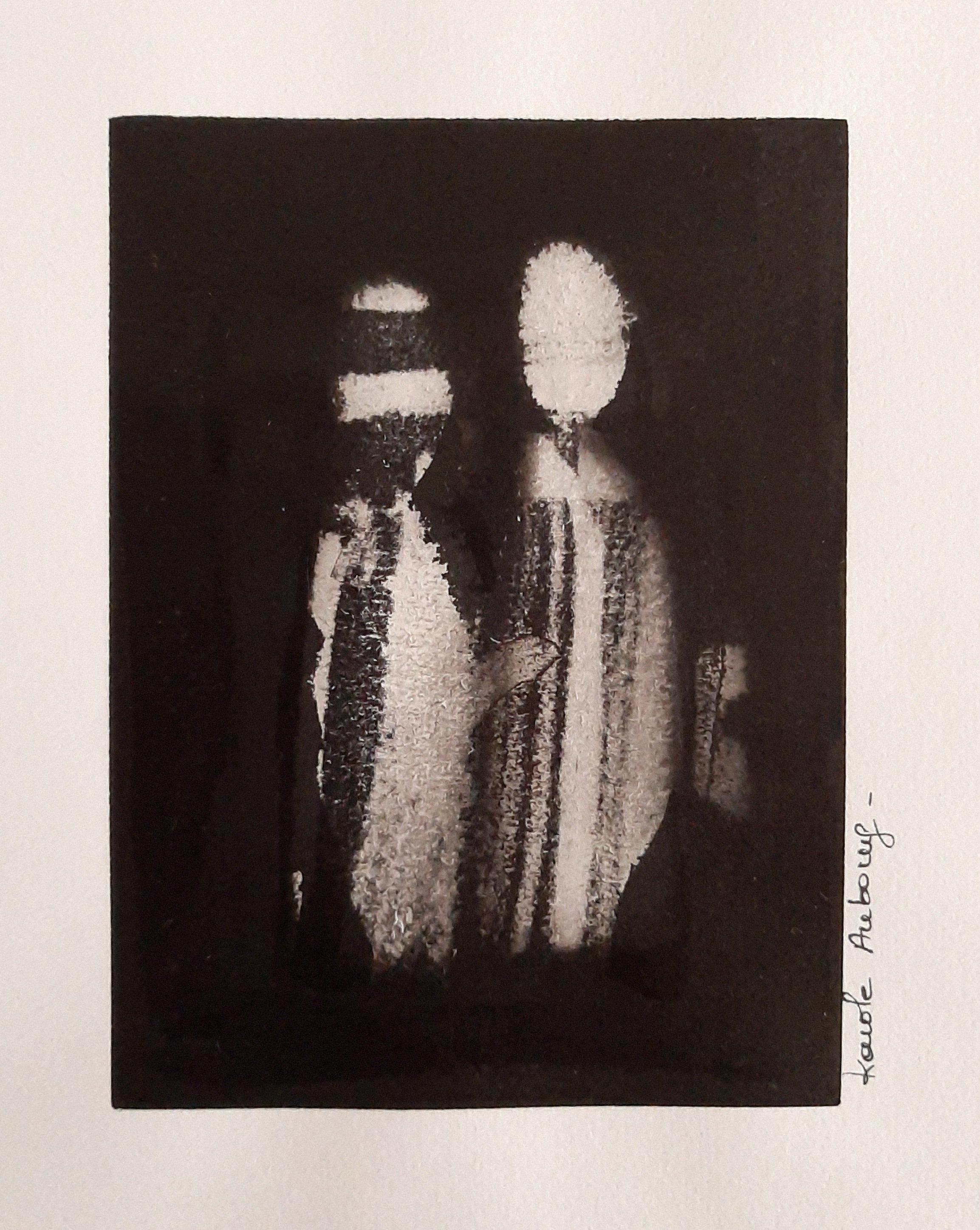 Encre de Chine sur papier numero 6 Karole Aubourg Dim 30 x21 cm