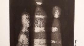 Encre de Chine sur papier numero 9 Karole Aubourg Dim 30 x21 cm