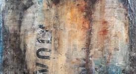 VENDREDI Karole Aubourg Techniques mixtes sur bois Dim 61 x 50 cm